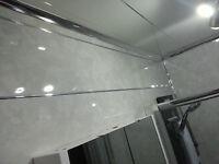 5 Light Grey Marble Decorative Interior Kitchen Bathroom Wall Cladding Panels
