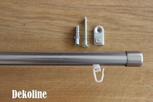 gardineum gardinenstange 1 l ufig deckenbefestigung 20 mm schiene aluminium ebay. Black Bedroom Furniture Sets. Home Design Ideas