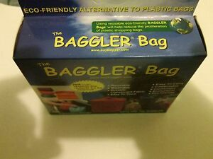 NEW Durable Nylon 3 Reusable Grocery Bags w/ Carabiner Zipper Carrying Case NIB