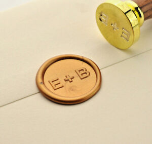 Two Initials Wax Stamp Wedding Invitation Wax Seal Custom Made