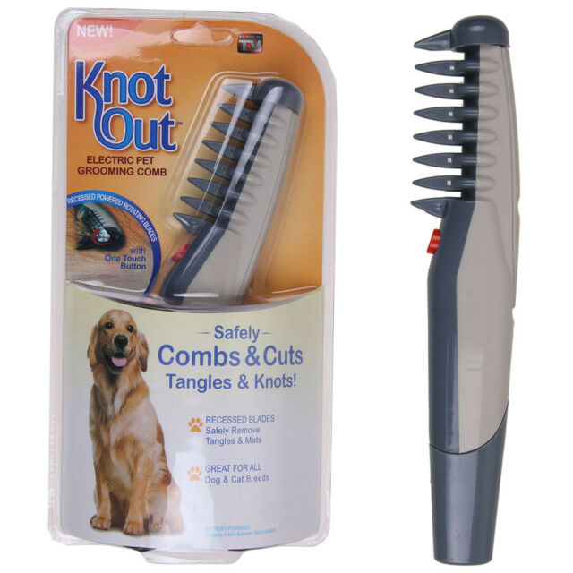 Tangles Knot Out Electric Pet Grooming Comb Cats And Dogs Remove Knots 2019