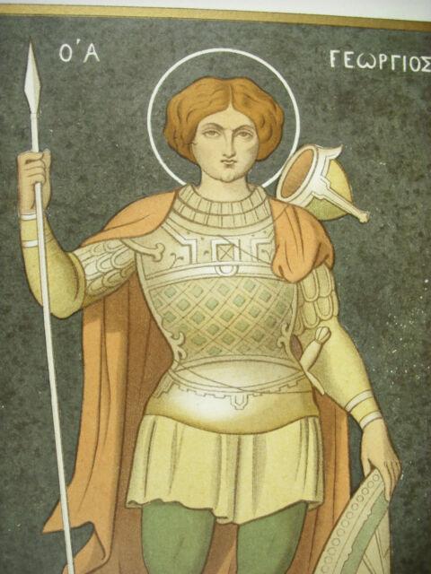 Saint Georges IN Armour Ap Ciappori Engraving Litho Xixth 1858 Hangard Maugé