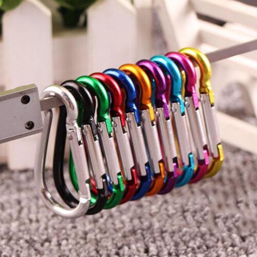 20PCS D Carabiner Clip Snap Spring Clasp Hook Keyring Camping Carabina Karabiner