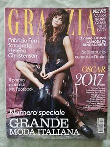 20# MAGAZINE Grazia N 10 2017 Helena Christensen Ivanka Trump Jackman Luxuria