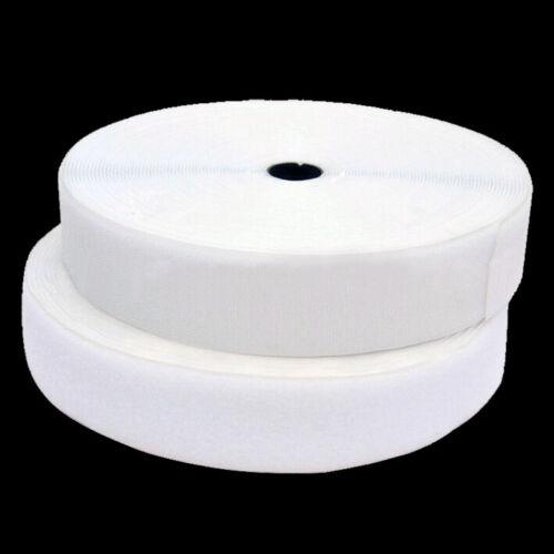 25 metros diferentes anchos a elegir Velcro blanco de pelo-hembra para telas