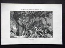 GRAVURE ANCIENNE 19e - ANDREAS HOEFER - INSURGE TYROLIEN