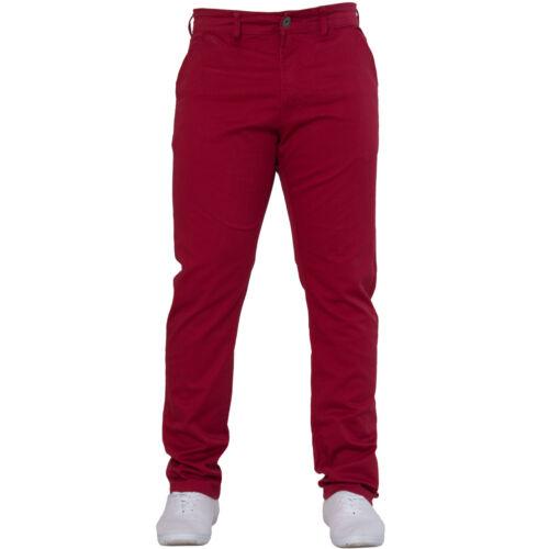 Neuf Enzo Hommes Slim Extensible de Marque Pantalon Chino Jeans Tous Tour Taille