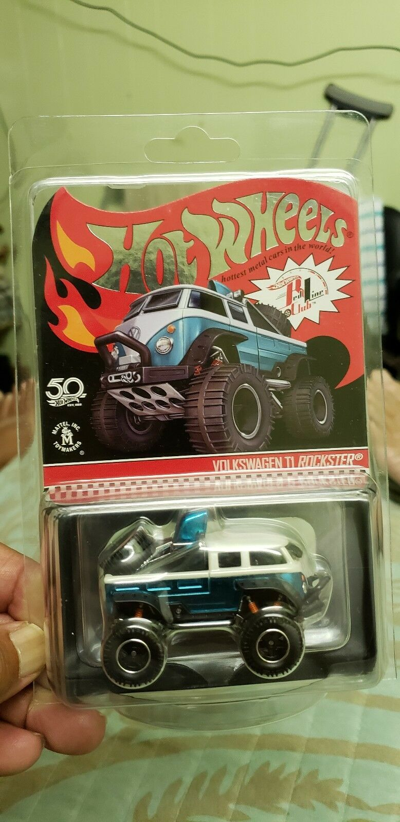 2018 Hot Wheels Rlc Club Volkswagen T1 Rockster bajo número  7000