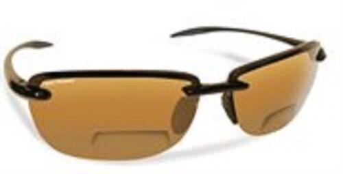 Sunglasses NEW Flying Fisherman MA 7305BA-200 Cali Blk Amber Bifocals 2.00