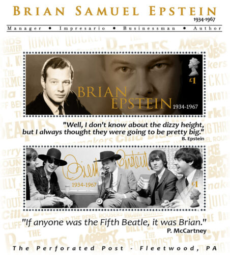 Brian Epstein Tribute - The Beatles (Artistamp, Faux Postage, REPRO)