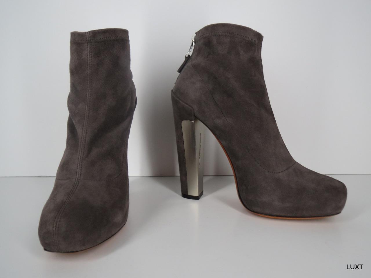 Brian Atwood stivali avvioies Heels  995  Dimensione 6.5 Suede Marronee Platform Ankle Zip  prezzi bassissimi