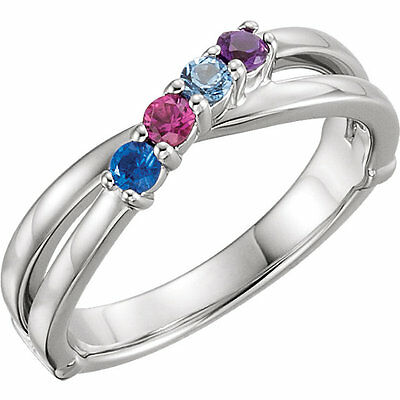 Mother/'s Day Jewelry Sterling SILVER Mother/'s Birthstone Ring 1-6 Stones