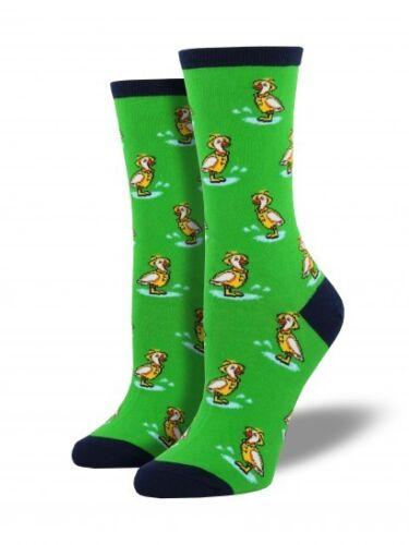 6-10 Socksmith Cute Duck Puddle Jumper Casual Sock Mojito Green