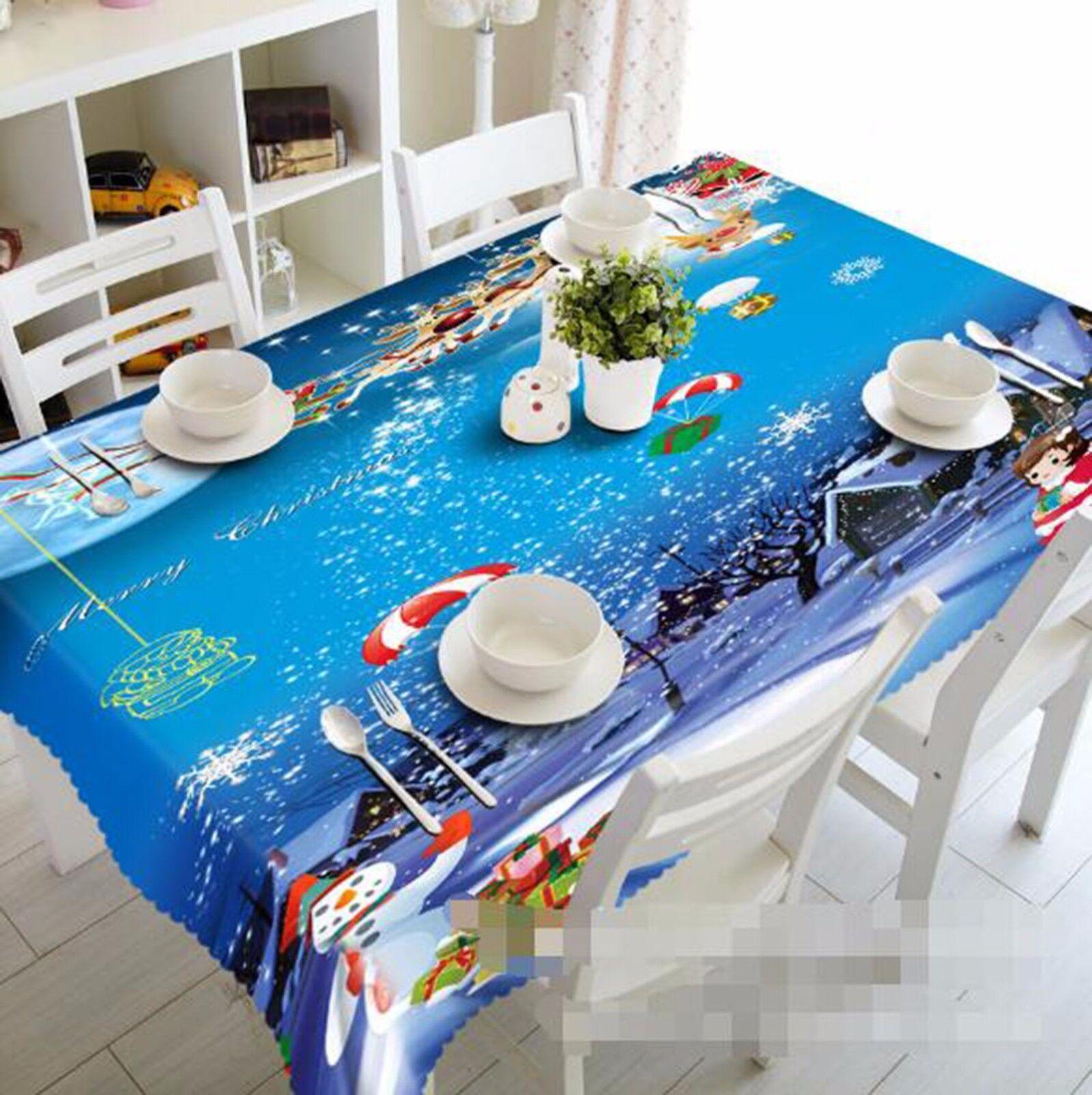 3D Neige 49 Nappe Table Cover Cloth fête d'anniversaire AJ papier peint Royaume-Uni Citron