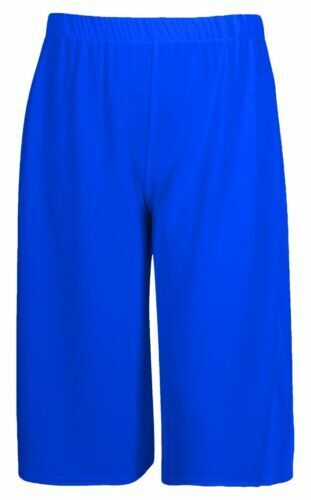 LADIES WOMENS 3//4 LENGTH SHORT PALAZZO TROUSERS CASUAL WIDE LEG CULOTTES PANTS