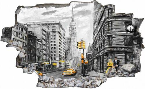 Gemälde Kunst Grau New York Wandtattoo Wandsticker Wandaufkleber C1614