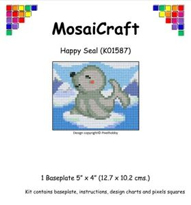 MosaiCraft-Pixel-Craft-Mosaic-Art-Kit-039-Happy-Seal-039-Pixelhobby