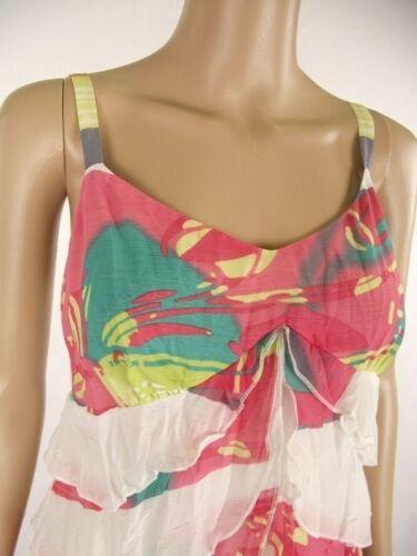 strappy top cami vest NEW 8 10 12 14 Per Una  chiffon layered print sun