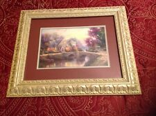 "Thomas Kinkade ""Lamplight Manor"" Framed Matted Print Frame is 18"" x 15"" W/COA"