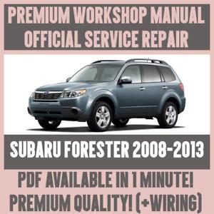 workshop manual service repair guide for subaru forester 2008 2013 rh ebay com Subaru Legacy Repair Manual PDF Subaru Legacy Repair Manual PDF