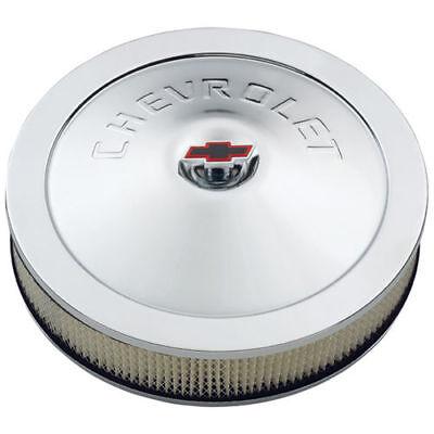 "Proform 141-752 Air Cleaner Black Wrinkle  w// Chevy Logo 1.5/"" Drop 14/"" x 3/"""
