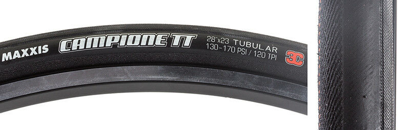 Maxxis Campione TT 3C Tire Tubular Max Campione Tt 700x23 M6r 3c Bk