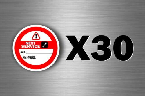 30 x sticker next service next revision car motorrad truck maintenance r2