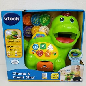 NEW VTech Educational Kids Toys Chomp Count Dino Baby ...