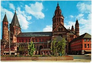1970s-Germany-Postcard-Mainz-Cathedral-Dom