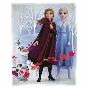 Disney-Frozen-2-Feuilles-Couverture-Polaire-Elsa-Anna-Olaf-Chambre