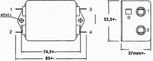 F.84  Netzfilter Entstörfilter 10A 125 250V Filter