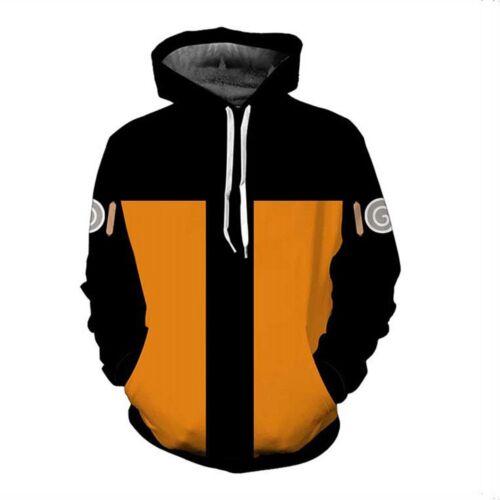 Naruto0 Hokage Uzumaki 3D Hoodie Costume Hood Jacket Pullover Sweatshirt Sweater