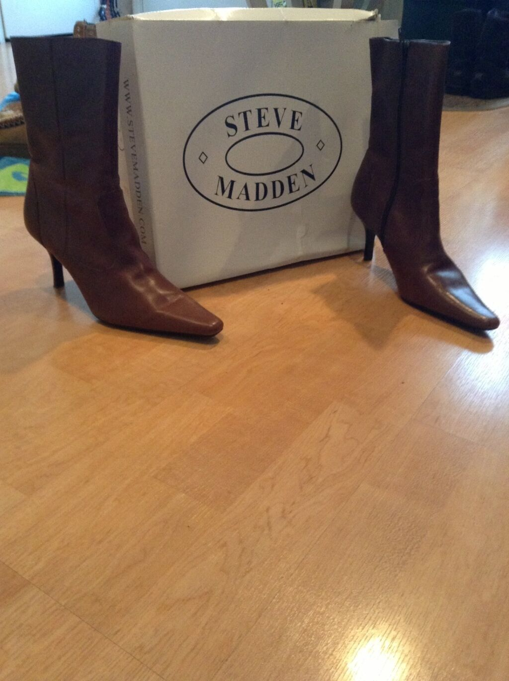 Brown, mid calf boot, size 8 1 2