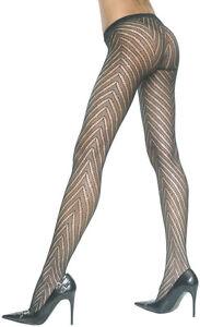 Sexy-Black-Stripe-Designed-Fishnet-Pantyhose-Stockings-One-Size-Music-Legs-5099