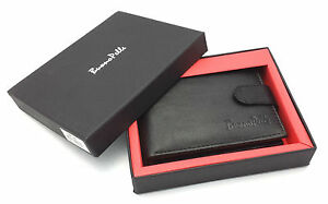 MENS DESIGNER BUONO PELLE GENUINE REAL SOFT LEATHER WALLET