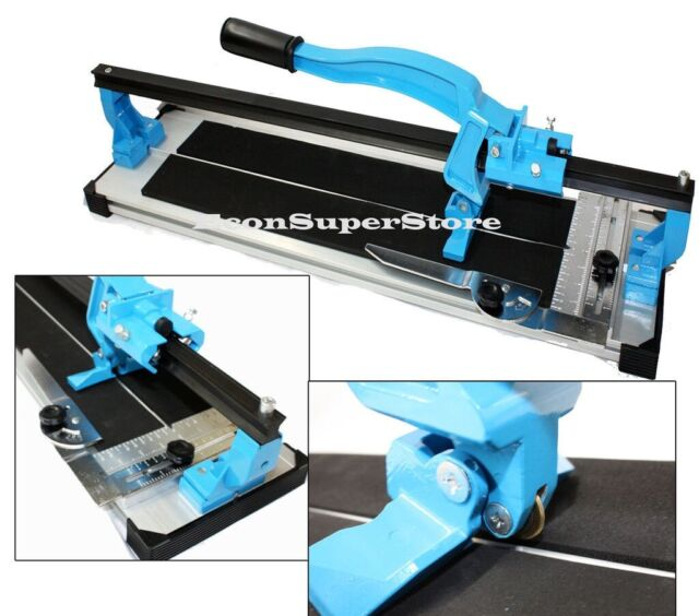 "TABLE TOP 24"" TILE CUTTER W/ HEAVY DUTY EXTRUDED ALUMINUM BASE SLIDE CUTTING"