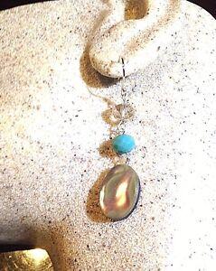 Style-Vintage-Argent-Sterling-925-Veritables-Abalone-Gemme-Dangle-Earrings