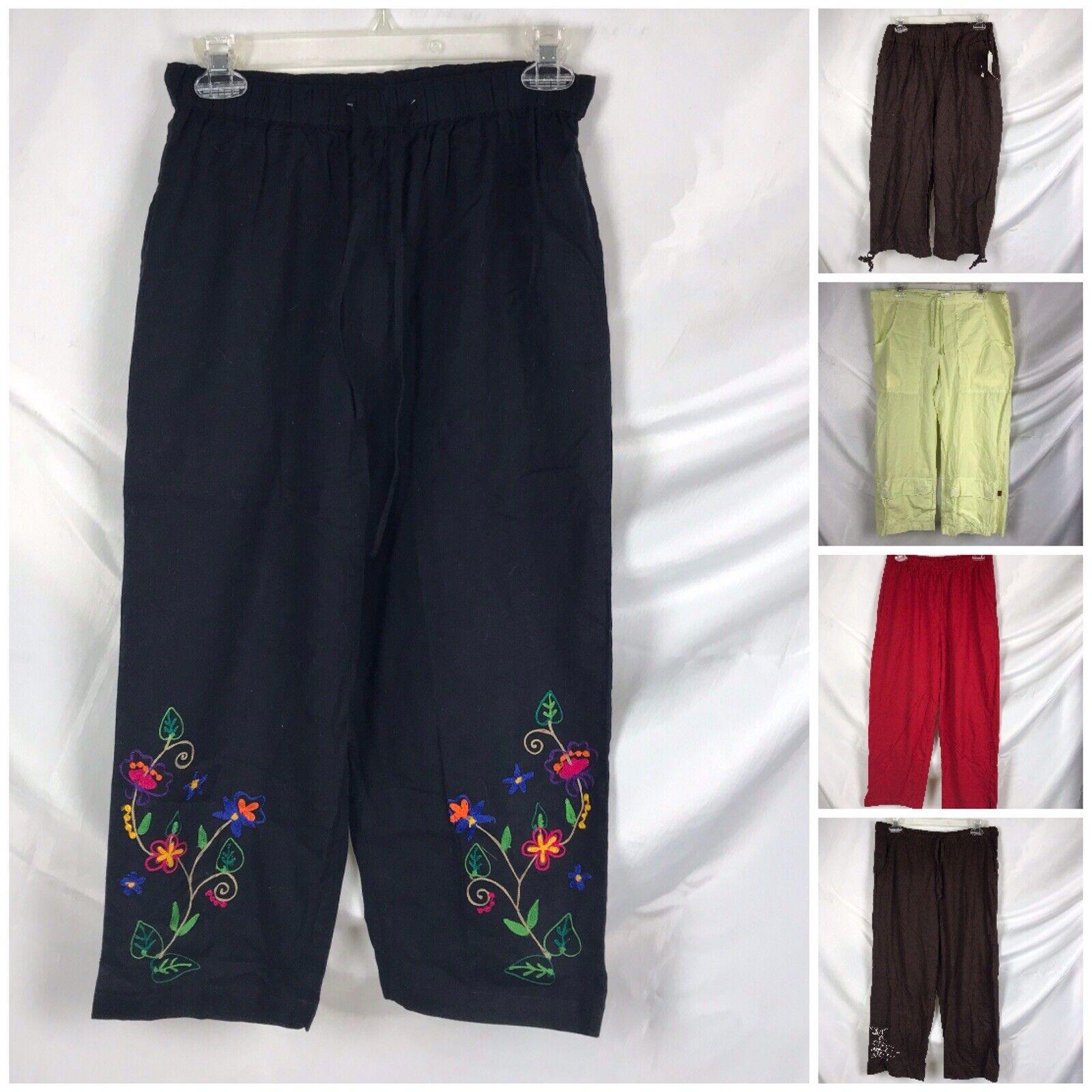 Lot 5 Womens Medium M Crop Capri Pants Inc. XCVI Metro Wear Erika Tropico
