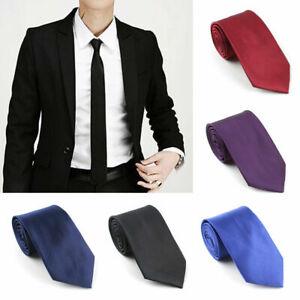 2a9af36f76e2 Classic Pure Color Plain Tie Jacquard Woven Men's Formal Suits Ties ...
