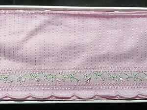 Lace-Trim-Embroidered-4-inch-Brushed-Tricot-Vintage-Doll-Clothes-4-1-2-yds-Lilac