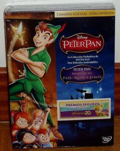 PETER-PAN-PETER-PAN-REGRESO-AL-PAIS-DE-NUNCA-JAMAS-DISNEY-2-DVD-NUEVO-PRECINTADO