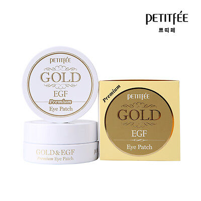 NEW PETITFEE Premium Gold & EGF Eye Patch 60 Pieces - Made in Korea