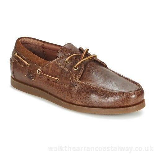 POLO RALPH LAUREN - DAYNE - Men's Casual Boat shoes - Brown Leather - Size 11 M