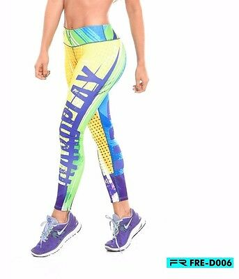 Fiber Activewear Legging Gym Yoga Workout Sportswear Lift Shape Pant FRE D006