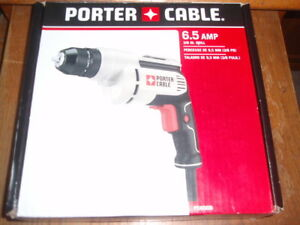 6-Amp PORTER-CABLE Corded Drill Variable Speed 3//8-Inch PC600D