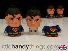 Cute Cartoon Super Man USB 8GB Flash Drive Memory Pen/Stick Gift Key Ring