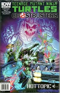 Teenage-Mutant-Ninja-Turtles-Ghostbusters-1-Hot-Topic-Excl-SEALED-FREE-S-H-IDW