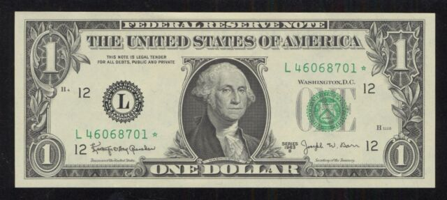1963-B $1 Federal Reserve Star Note - FR 1902-L* San Francisco