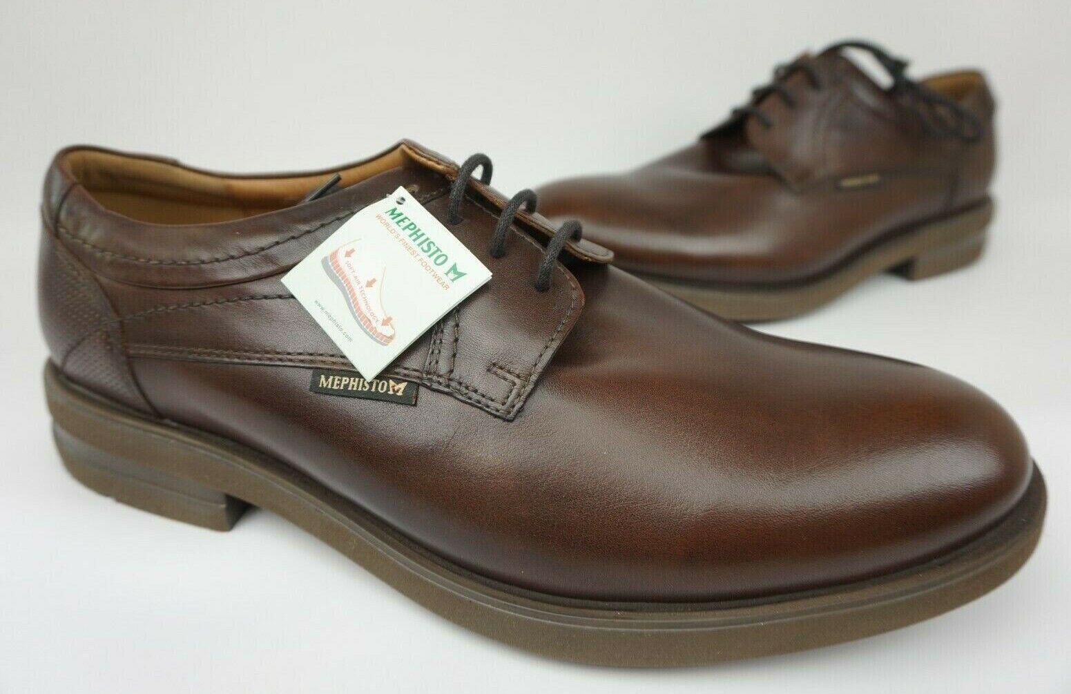 Mephisto Olivio Oxford Braune Schuhe Herren Haselnuss Toby Leder Größe 13 US Neu