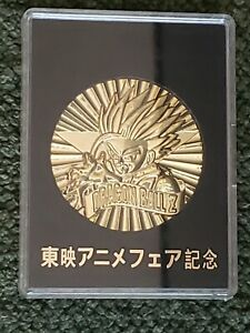 DRAGON-BALL-Z-30TH-ANNIVERSARY-GOHAN-50MM-GOLD-PLATED-COIN-IN-SLAB-BRAND-NEW
